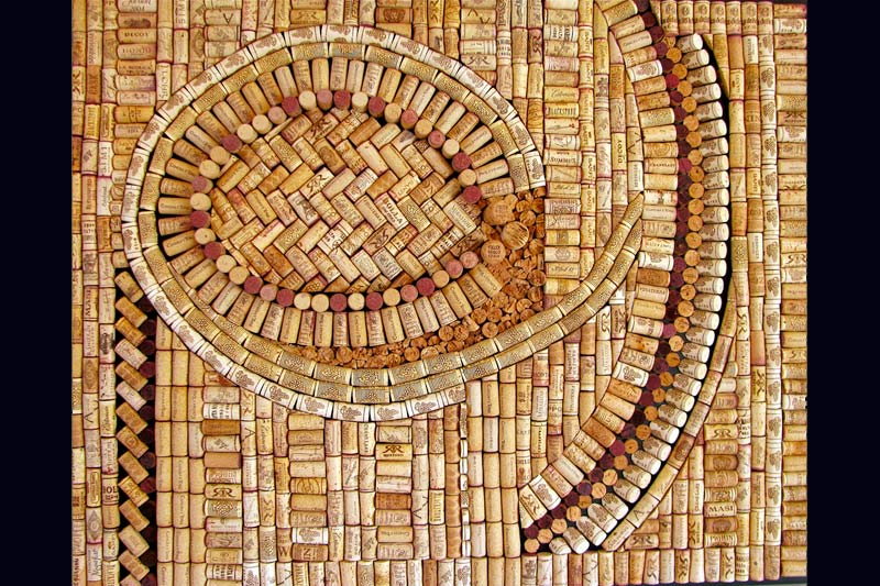 Swirl commercial decor by wine cork designs
