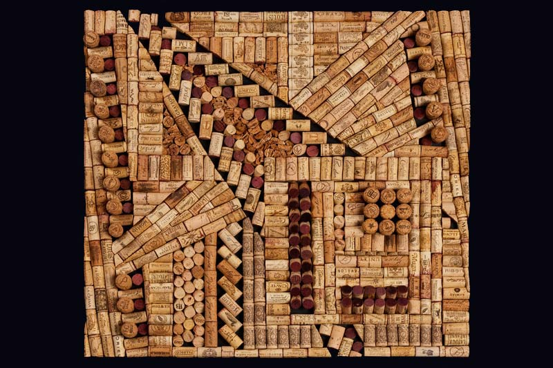 Recycled wine corks by Wine Cork Designs