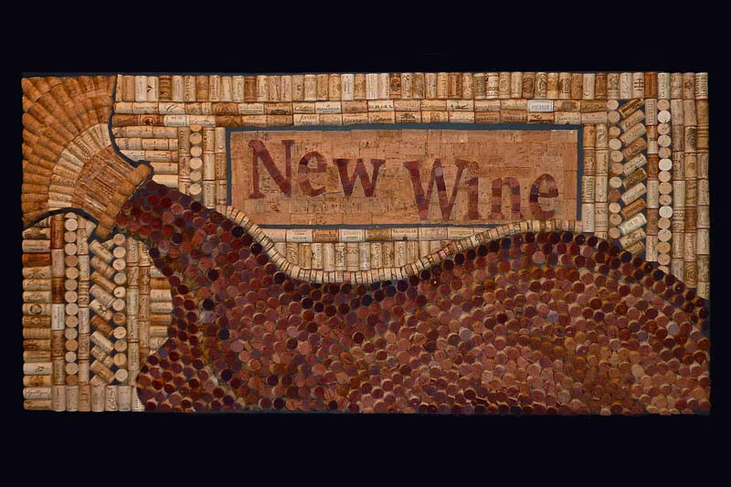 Wine cork decor by Wine Cork Designs