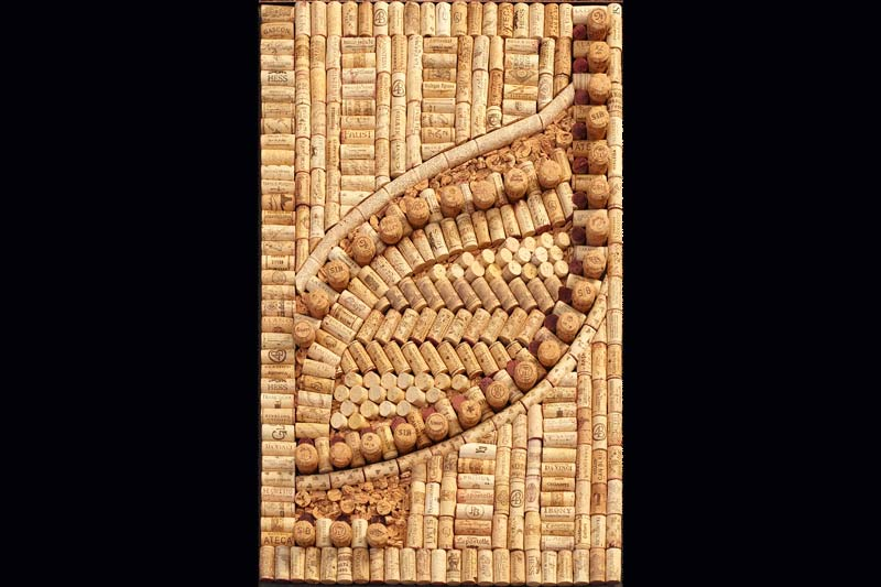 Wine cork design