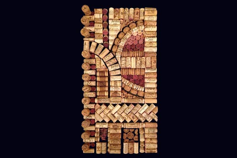Julietta, wine cork art decor