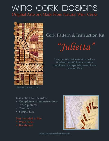 DIY Cork Pattern art