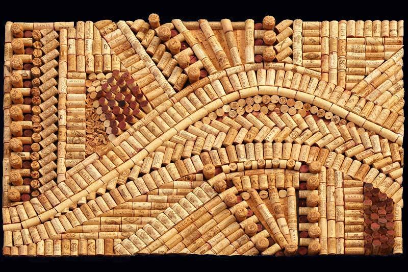 Wine cork art esmeralda solutioingenieria Image collections